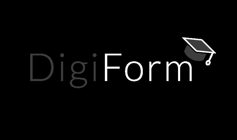 Logo blanc DigiForm by Hemaphore