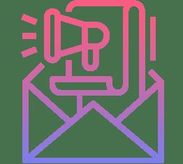 Icône de gestion des Emails et SMS Marketing